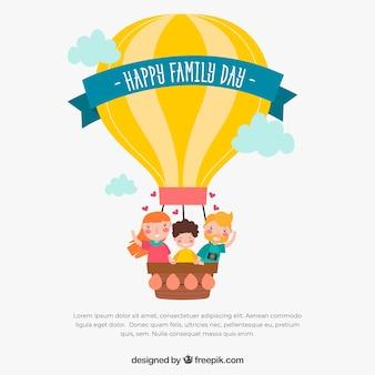 Счастливый семейный день в ручном стиле