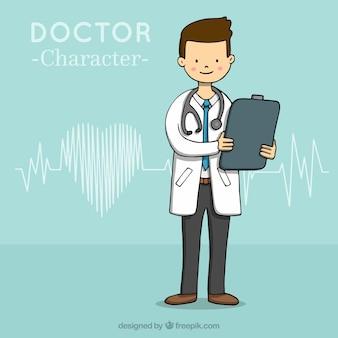 クリップボードを持っている医者