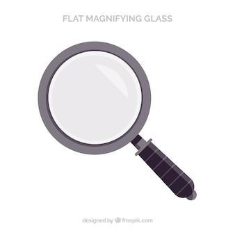 Увеличительное стекло в плоском стиле