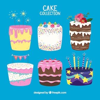 クリームとベリーのケーキコレクション