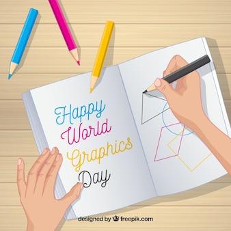 Всемирный день графического дня с записной книжкой