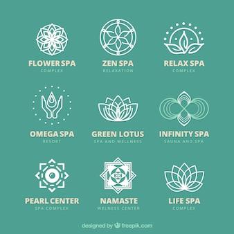Красивые шаблоны логотипов спа