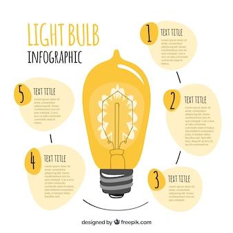 Светодиодная лампа с элементами