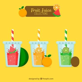 Вкусная коллекция соков для брызг с фруктами