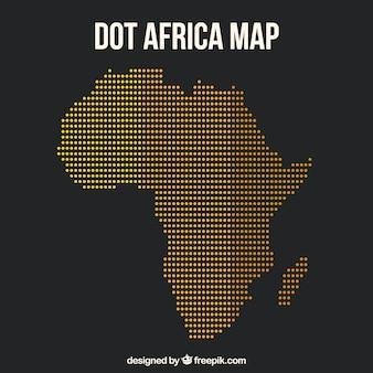 アフリカの地図と色のドット
