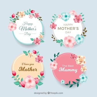 Коллекция этикетки на день матери