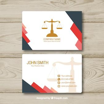 弁護士のカードテンプレート