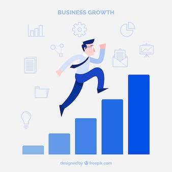 男が登るビジネスコンセプト