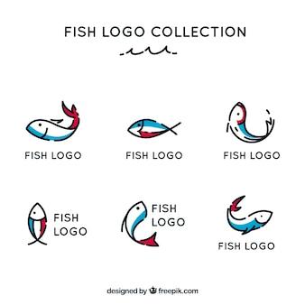 ブランドブランディングのためのフィッシュロゴコレクション