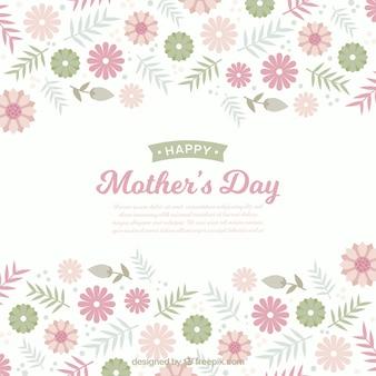 フラワースタイルの花の母の日の背景