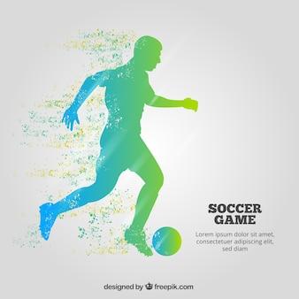 プレーヤーとサッカーのゲームの背景