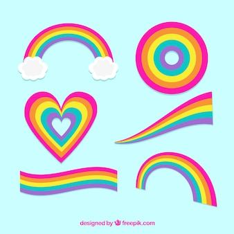 カラフルな虹のセット
