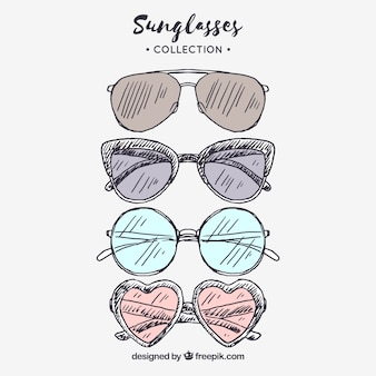 Коллекция цветных и современных солнцезащитных очков