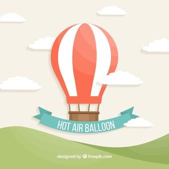 熱気球の旅行の背景