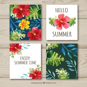花の夏のカードコレクション