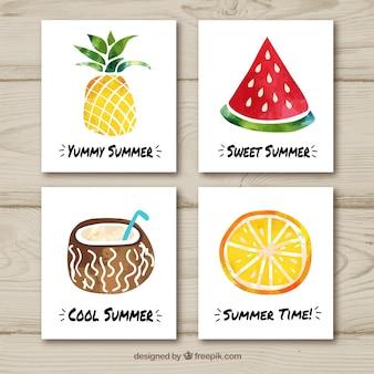 フルーツと夏のカードコレクション