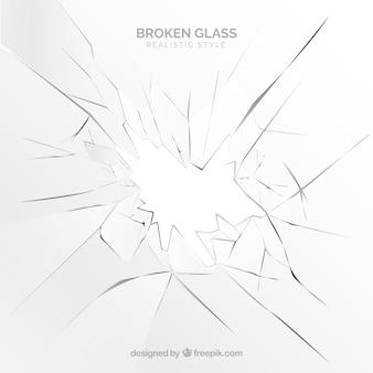 Сломанный стеклянный фон в реалистичном стиле