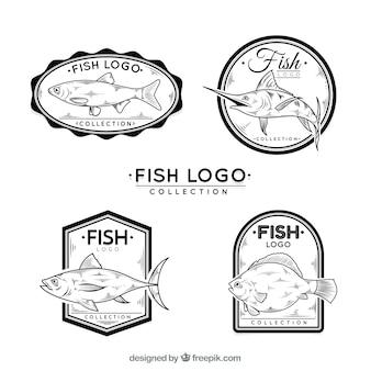 黒と白のロゴコレクション