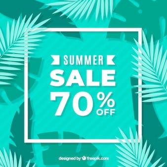 緑の夏の販売の背景と葉