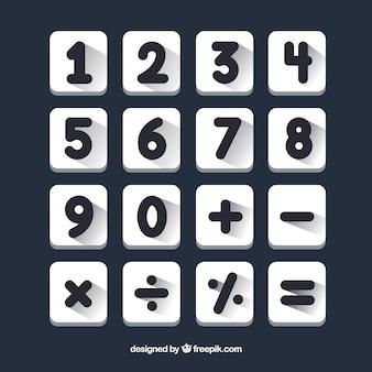 フラットデザインのカラフルなナンバーコレクション