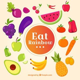 Красочная композиция со здоровой пищей