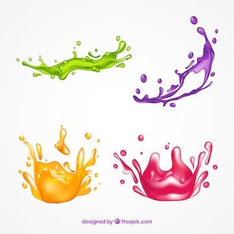 Коллекция красок для брызг