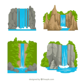漫画スタイルの滝のコレクション