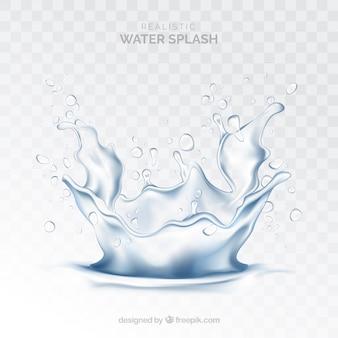 現実的なスタイルの背景のない水スプラッシュ