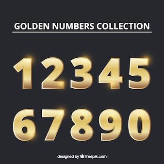Коллекция номеров с золотым стилем