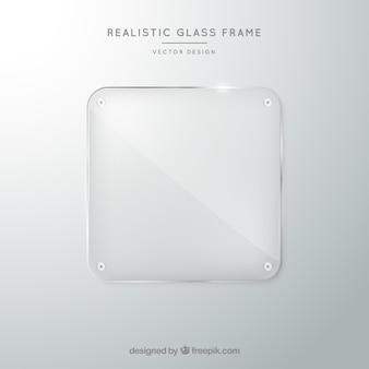 Стеклянная рамка в реалистичном стиле