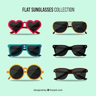 Коллекция сезонных солнцезащитных очков в плоском сале