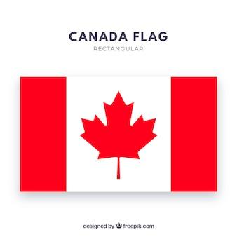カナダの旗の背景