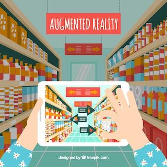 Фон дополненной реальности с устройством