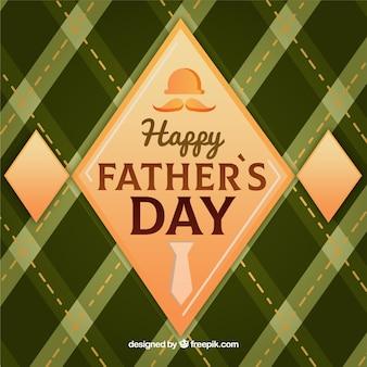 День отца фон с зеленым узором