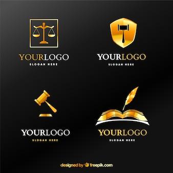 法律のロゴタイプセット