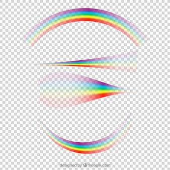 さまざまな形の虹のコレクション