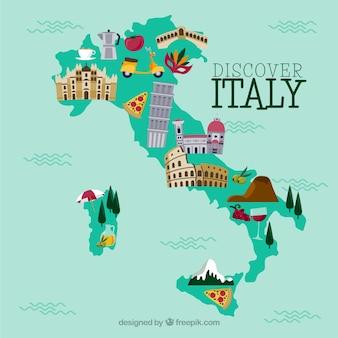 イタリア語の地図