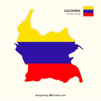 コロンビアの地図