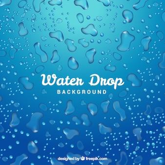現実的なスタイルの水滴の背景