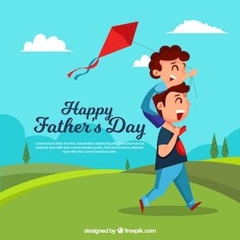 День отца с семьей