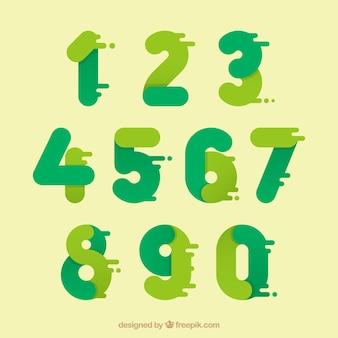 Цветной набор номера с плоским дизайном