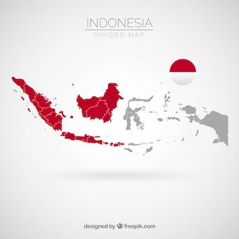 インドネシアの地図
