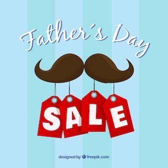 Шаблон для продажи на день отца с усами и ярлыками