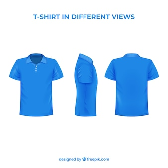 Мужская футболка с разными видами с реалистичным стилем
