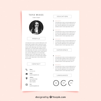 Шаблон учебной программы с минималистским стилем