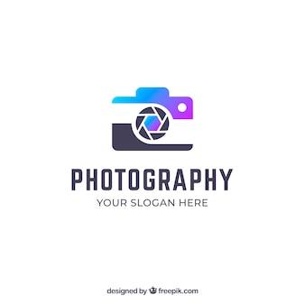 グラデーションカラーの写真ロゴ
