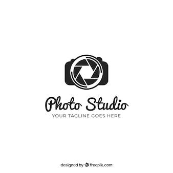 Логотип фотографии черного цвета