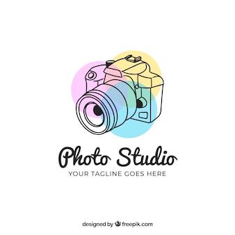 Логотип фотографии с боковым видом