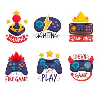 Коллекция логотипов с плоским дизайном
