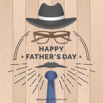 Счастливый день отца с элементами одежды